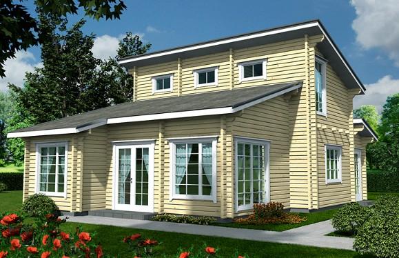 Vakantiehuizen voor uw prefab casco en zelfbouw log en for Zelf woning bouwen prijzen